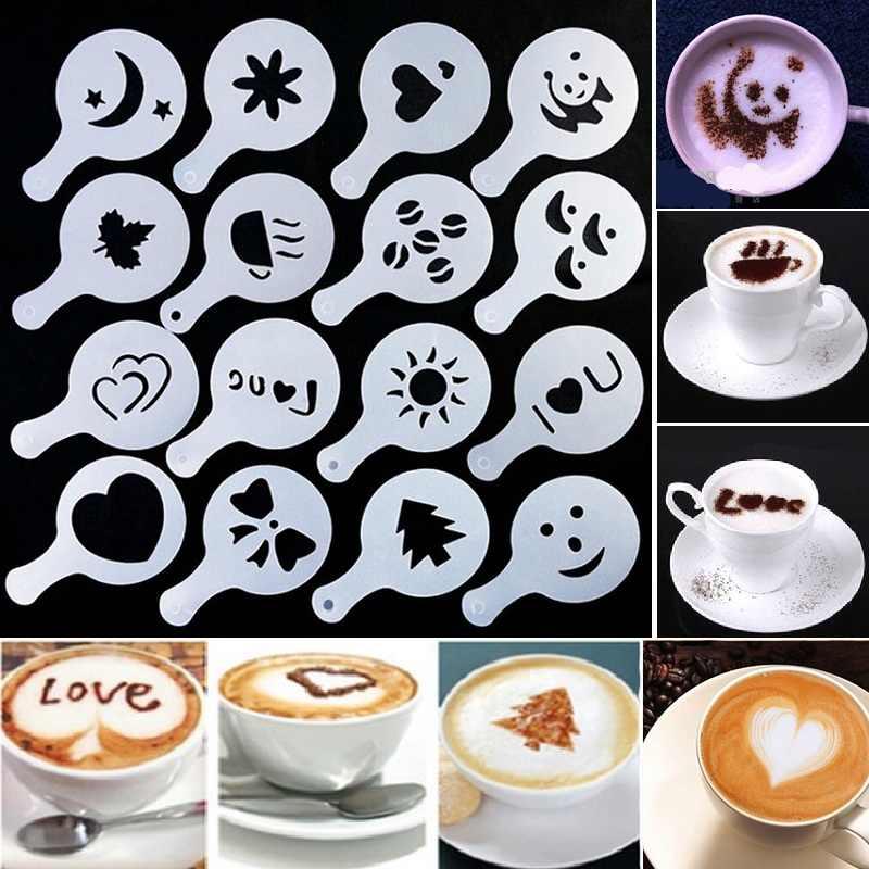 Coffee Latte Cappuccino Barista Art Stencils – 16 Templates